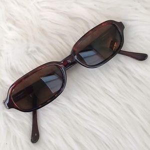 Fossil Tortoise Shell Square Framed Sunglasses